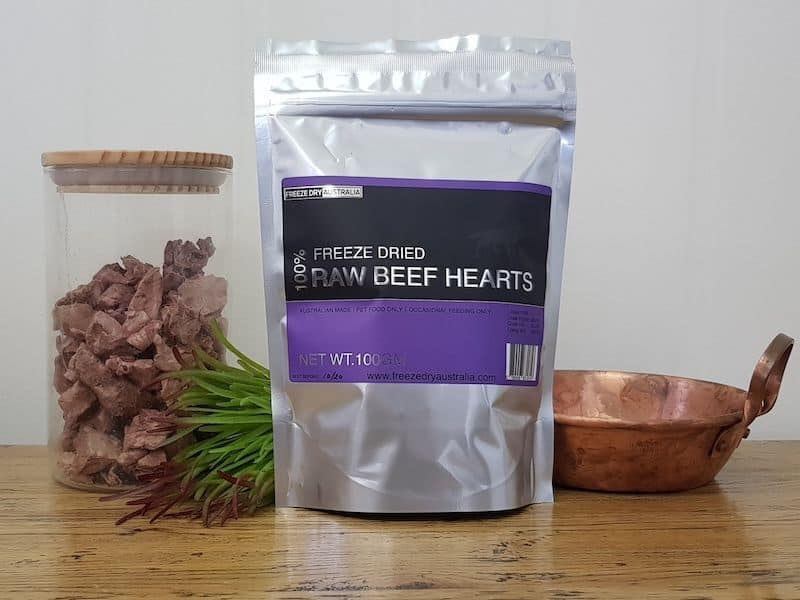 Freeze Dry Australia Raw Beef Hearts