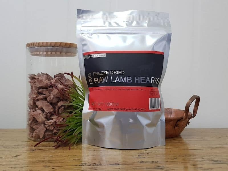 Freeze Dry Australia Raw Lamb Hearts